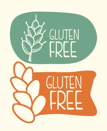 free sign: gluten free design, vector illustration eps10 graphic
