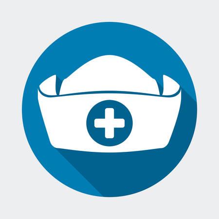 gorras: dise�o del sombrero enfermera, ejemplo gr�fico del vector eps10 Vectores