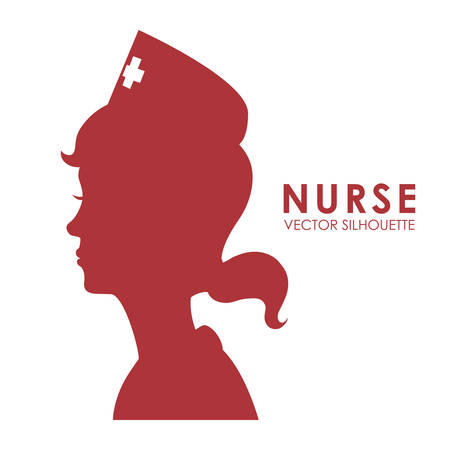 nurse: nurse woman design, vector illustration eps10 graphic Illustration