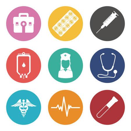instrumental medico: dise�o de iconos m�dicos, ejemplo gr�fico del vector eps10
