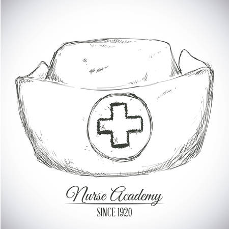 nursing clothes: nurse hat design, vector illustration eps10 graphic Illustration