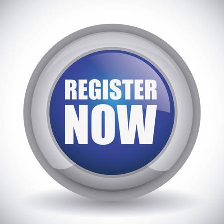 register button: register button design Illustration