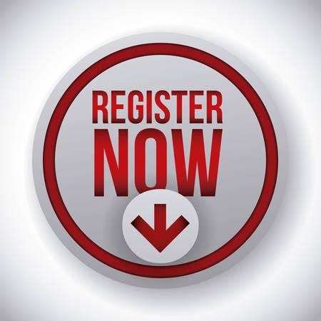 register button design Vector Illustration