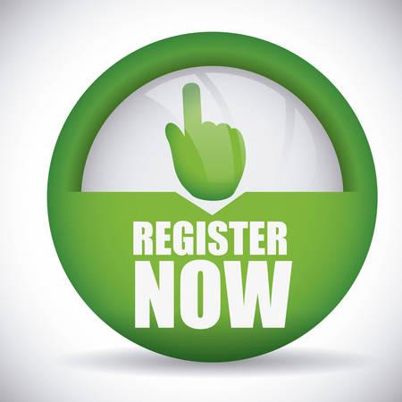 register: register button design Illustration