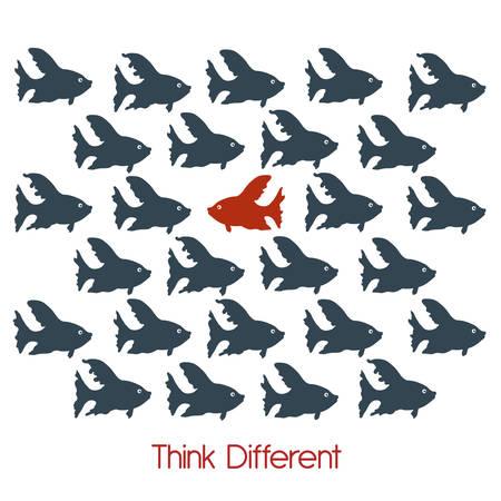 think different design, vector illustration eps10 graphic Illustration