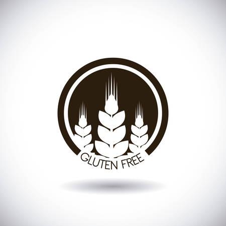 gluten: gluten free design, vector illustration eps10 graphic
