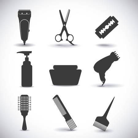 la conception de l'icône de coiffure, illustration graphique eps10