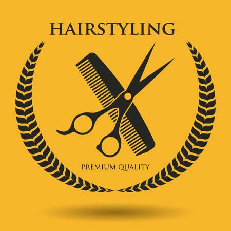 hairstyling: dise�o de iconos de peluquer�a, ilustraci�n vectorial gr�fico eps10