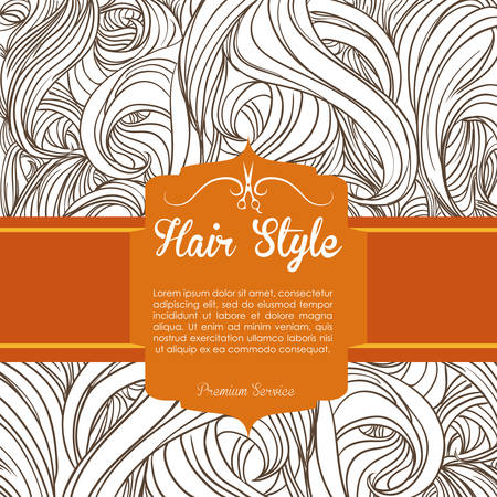 peluqueria: dise�o de iconos de peluquer�a, ilustraci�n vectorial gr�fico eps10