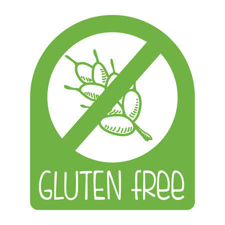 gluten: gluten free design, vector illustration eps10 graphic