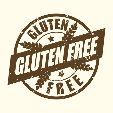 glutenvrij ontwerp, vectorillustratie eps10 grafische Stock Illustratie