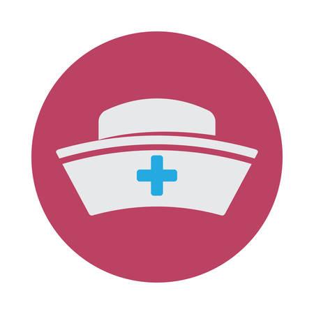 nurses: dise�o del sombrero enfermera, ejemplo gr�fico del vector eps10 Vectores