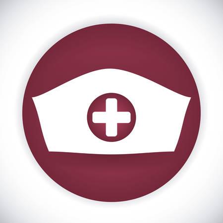 nurse cap: diseño del sombrero enfermera, ejemplo gráfico del vector eps10 Vectores