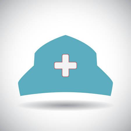 nursing clothes: nurse hat design, vector illustration eps10 graphic Illustration