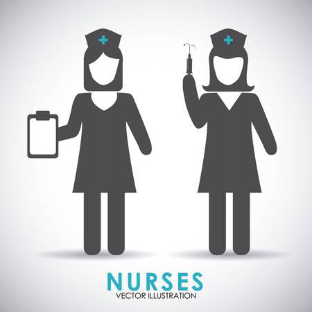 medical headwear: nurse woman design, vector illustration eps10 graphic Illustration
