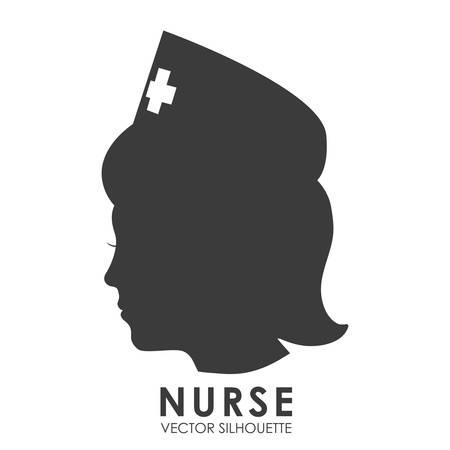 nurse: nurse woman design, vector illustration eps10 graphic Illustration