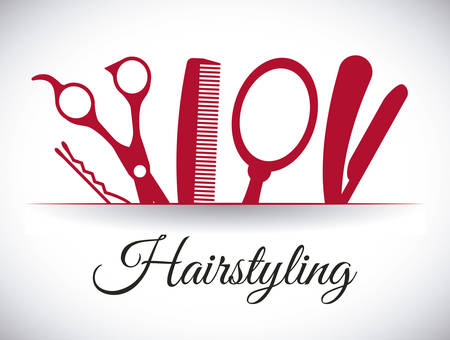 peine: dise�o de iconos de peluquer�a, ilustraci�n vectorial gr�fico eps10