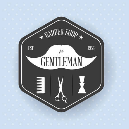 hairdressing icon design, vector illustration eps10 graphic Vector