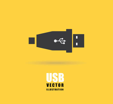 network connection plug: usb connection design, vector illustration eps10 graphic Illustration