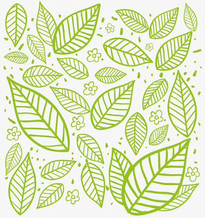 leafs: leafs background design, vector illustration eps10 graphic