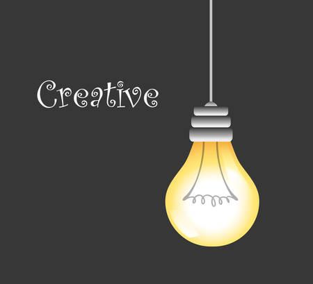 bulb idea design, vector illustration eps10 graphic