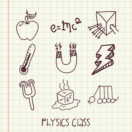 formule: physics class design, vector illustration eps10 graphic