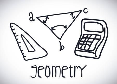 geometry drawn design, vector illustration eps10 graphic Vector
