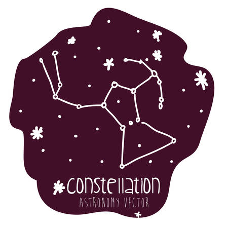 orion: orion constelation design, vector illustration eps10 graphic
