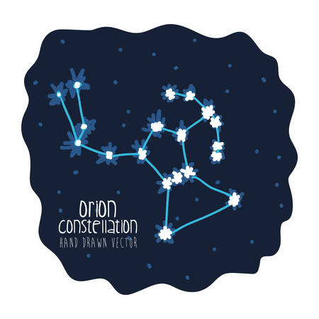 orion constelation design, vector illustration eps10 graphic