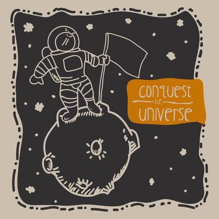 conquest: conquest the universe design, vector illustration eps10 graphic Illustration