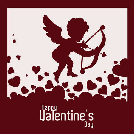concept day: happy valentines day design, vector illustration eps10 graphic