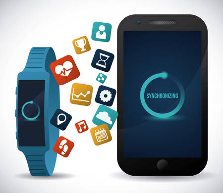 wheater: smart watch design, vector illustration eps10 graphic Illustration