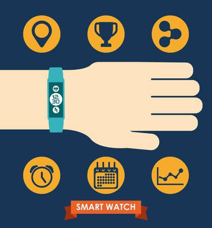 smart wristband design, vector illustration eps10 graphic