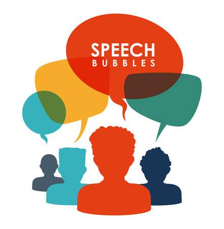 speech bubbles communication design, vector illustration eps10 graphic