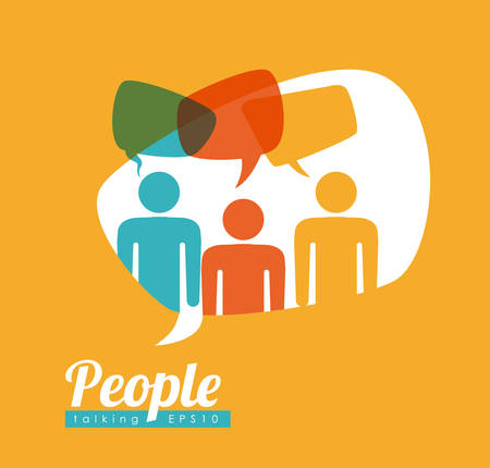 people speech design, vector illustration eps10 graphic