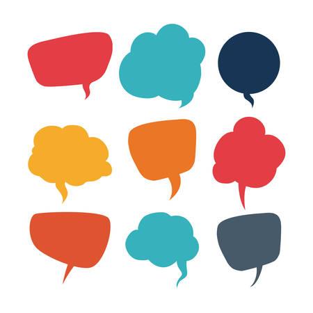 bubble speech: speech bubbles communication design, vector illustration eps10 graphic
