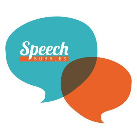 color design: speech bubbles communication design, vector illustration eps10 graphic