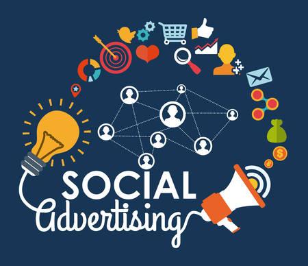 advertising sign: social advertising design, vector illustration eps10 graphic