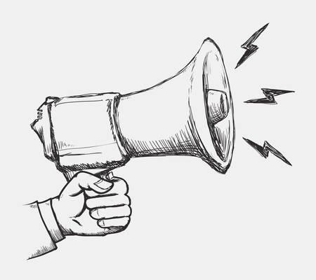 loudspeaker: megaphone icon design, vector illustration eps10 graphic