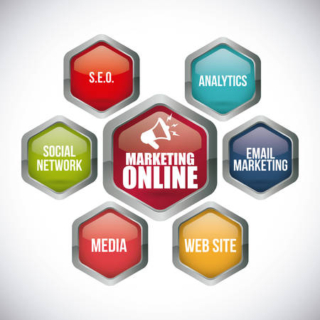 social web sites: marketing online design, vector illustration eps10 graphic