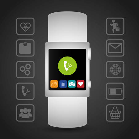 wearable technology design, vector illustration eps10 graphic Vector