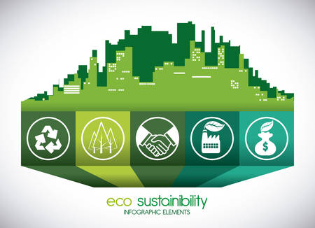 reforestation: eco sustainibility design, vector illustration eps10 graphic