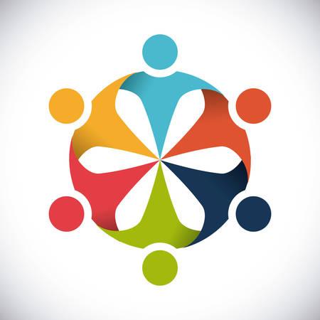 eenheid mensen ontwerp, vectorillustratie eps10 grafische Vector Illustratie
