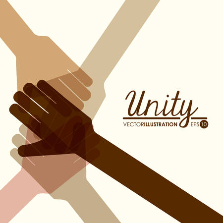 meeting together: unity people design, vector illustration eps10 graphic