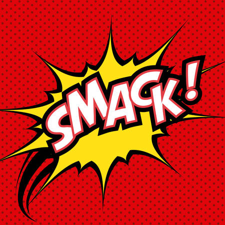 smack: pop art design, vector illustration eps10 graphic