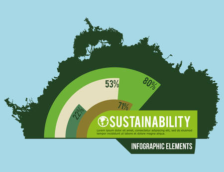 forest conservation: eco sustainibility design, vector illustration eps10 graphic