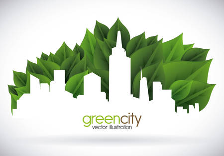 eco concept design, vector illustration eps10 graphic Stock Illustratie