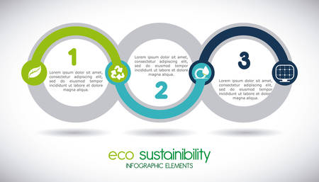 recycling: eco sustainibility design, vector illustration eps10 graphic