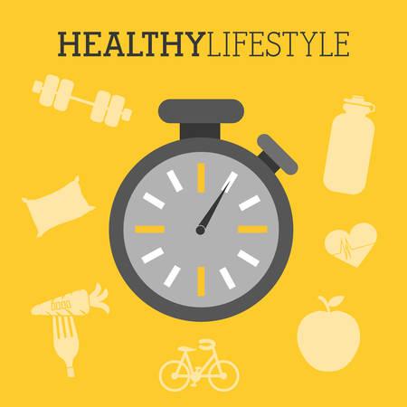 vida sana: dise�o de estilo de vida saludable, ilustraci�n vectorial gr�fico eps10