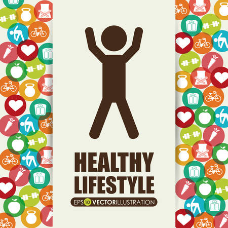 sports backgrounds: healthy lifestyle design, vector illustration eps10 graphic Illustration